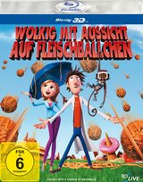 Wolkig mit Aussicht auf Fleischbällchen (Blu-ray 3D) Poster