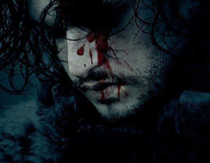 Ein blutverschmierter Jon Snow auf dem Poster für Game of Thrones Staffel 6 ©HBO/Sky