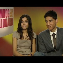 """Freida Pinto """"Latika"""" & Dev Patel """"Jamal"""" - über den universellen Charakter der Geschichte - OV-Interview"""