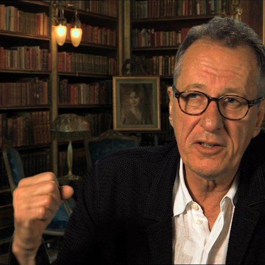 Geoffrey Rush - Hans - darüber, wie Hans Liesel zum Lesen bringt - OV-Interview Poster