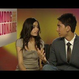 "Dev Patel & Freida Pinto ""Jamal"" & ""Latika"" - über die Musik - OV-Interview"