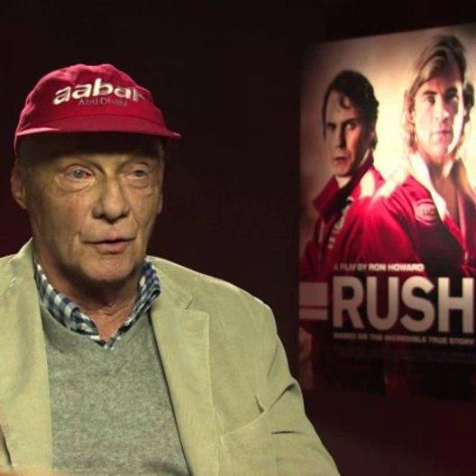 Niki Lauda über Daniel Brühl in der Rolle des Niki Lauda - OV-Interview Poster