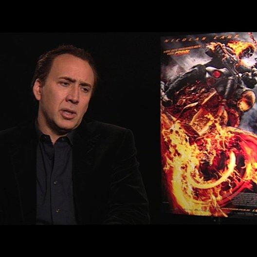 Nicolas Cage darüber, wie es sich anfühlt, wieder als Ghost Rider zurück zu sein - OV-Interview Poster