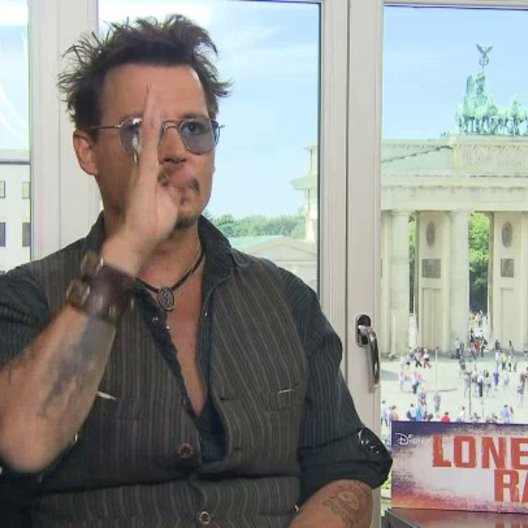 Johnny Depp - Tonto - über die Inspiration zu Lone Ranger - OV-Interview
