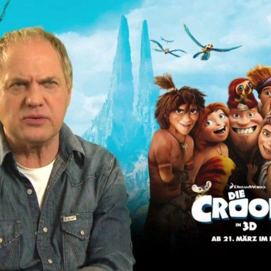 Uwe Ochsenknecht (Grug) über die Mitglieder der Familie Croods - Interview Poster