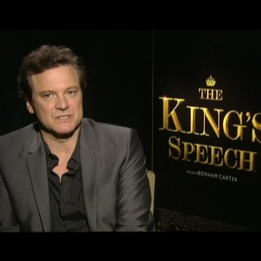 Colin Firth (King George VI) über die Themen des Films - OV-Interview