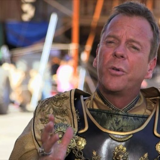 Kiefer Sutherland - Corvus - über das Drehbuch, das Faszinierende an Pompeji, seine Erfahrungen bei den Dreharbeiten, den Film - OV-Interview Poster