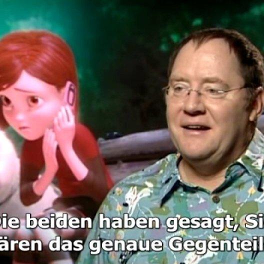 """John Lasseter (""""Findet Nemo"""", """"Wall.E"""") über sein Erfolgsrezept, herzerweichende Hundeblicke und Filmwirklichkeit. - Interview Poster"""