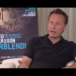 Michael Nyqvist zur Frage, ob er Stieg Larsson selbst kennen gelernt hat - OV-Interview