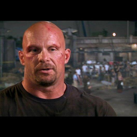 Steve Austin über das Stunt-Team - OV-Interview