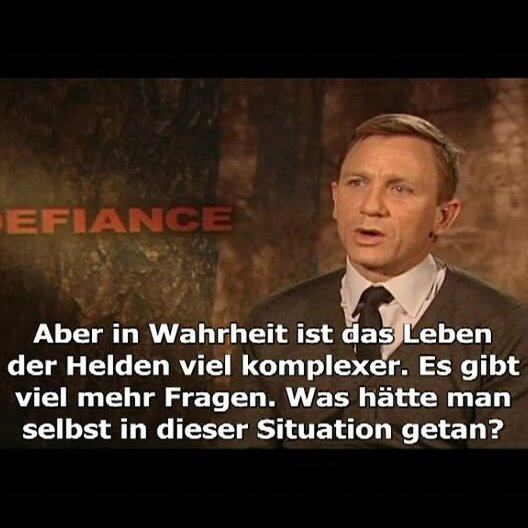 Interview mit Hauptdarsteller Daniel Craig (Tuvia)