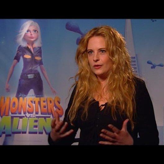 Diana Amft / über Susans Verwandlung in MONSTERS vs ALIENS - Interview