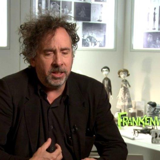 Tim Burton - Regisseur - über den Look - OV-Interview