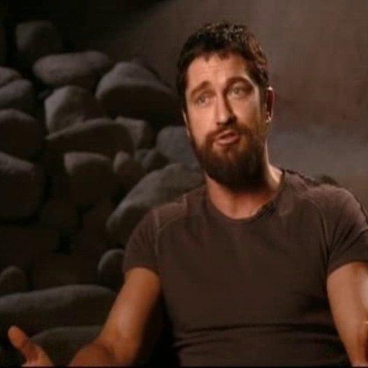 Gerard Butler (König Leonidas) über die 300 Spartaner und Regisseur Zack Snyder. - OV-Interview