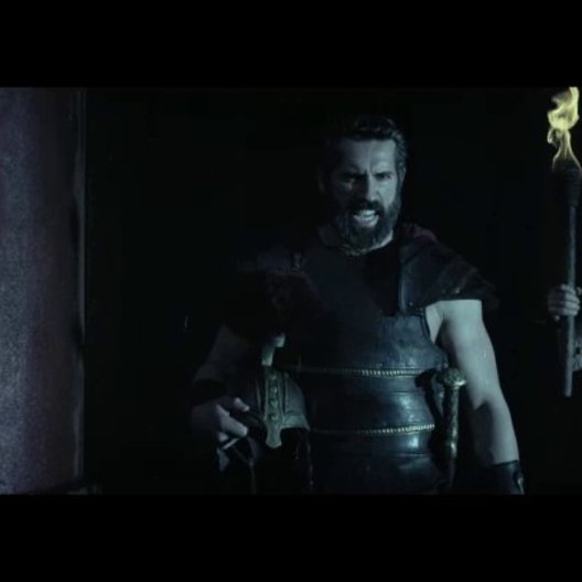 Hercules fordert Amphitryon zum Kampf auf - Szene Poster