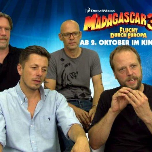 Die Fantastischen Vier - Die Pinguine - was ihnen an MADAGASCAR 3 gefällt - Interview Poster