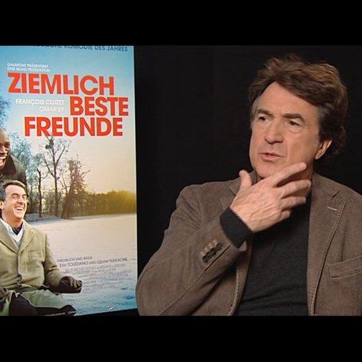 Francois Cluzet (Philippe) über die Herausforderung sich nur über die Mimik auszudrücken - OV-Interview