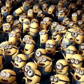 Minions-Sprache: Tulaliloo ti amo! Und das ist die Wahrheit! Banana!