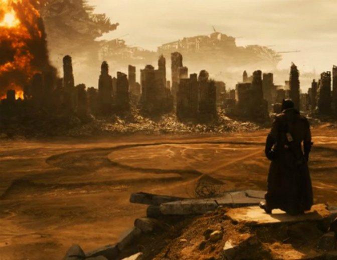 Traum oder Zukunft? Das Omega Symbol als Vorbote Darkseids? © Warner Bros.