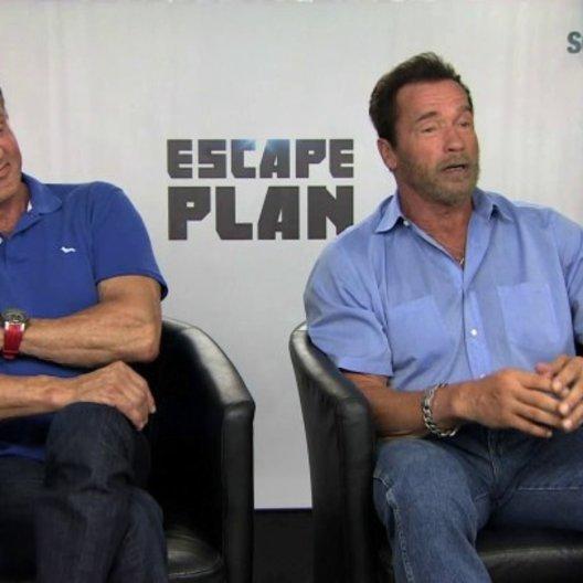 Stallone und Schwarzenegger über die gemeinsame Kampfszene - OV-Interview