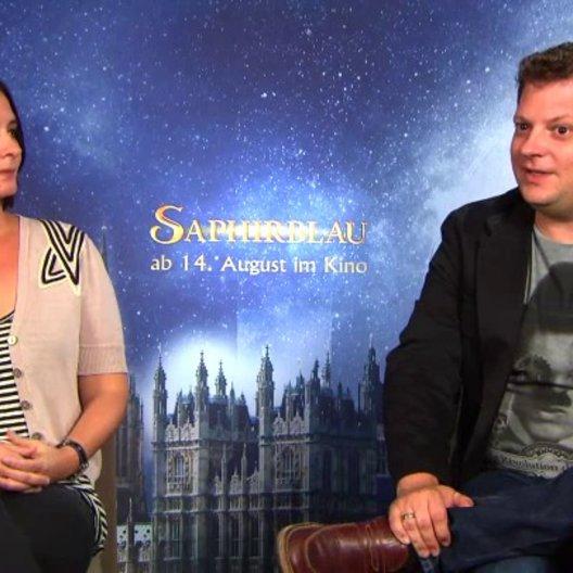 Felix Fuchssteiner und Katharina Schoede -  Regie und Produktion -  über die neuen Charaktere in Saphirblau - Interview