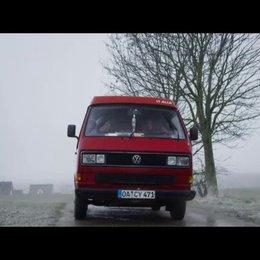 Kati Rocky im VW Bus - Szene Poster