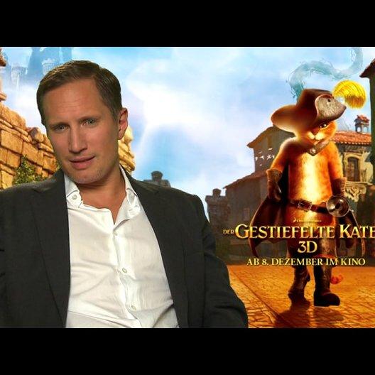 Benno Fürmann - deutsche Stimme DER GESTIEFELTE KATER - über den Look des Films - Interview Poster