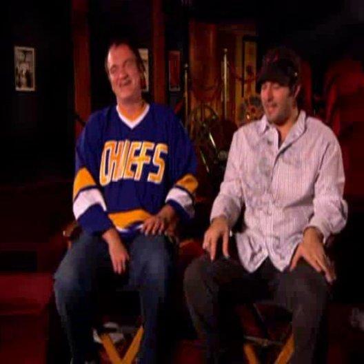 Quentin Tarantino und Robert Rodriguez über 'Grindhouse'. - OV-Featurette