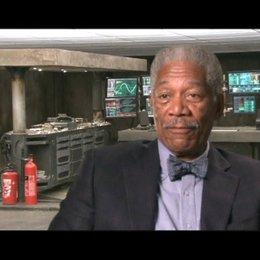 Interview mit Morgan Freeman (Lucius Fox) - OV-Interview Poster