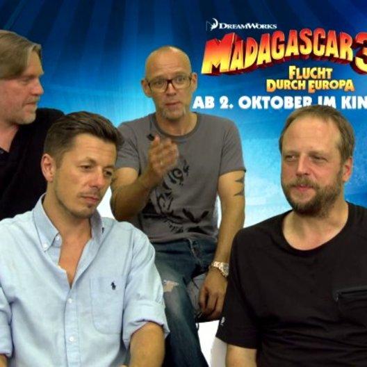 Die Fantastischen Vier - Die Pinguine - über die Arbeit im Synchronstudio - Interview Poster
