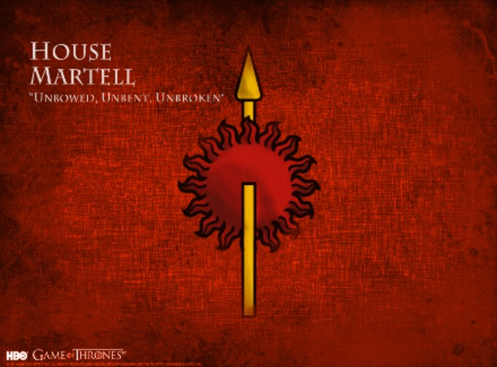 Game of Thrones Haus Martell © HBO