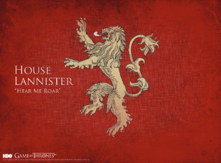 Game of Thrones Haus Lannister © HBO