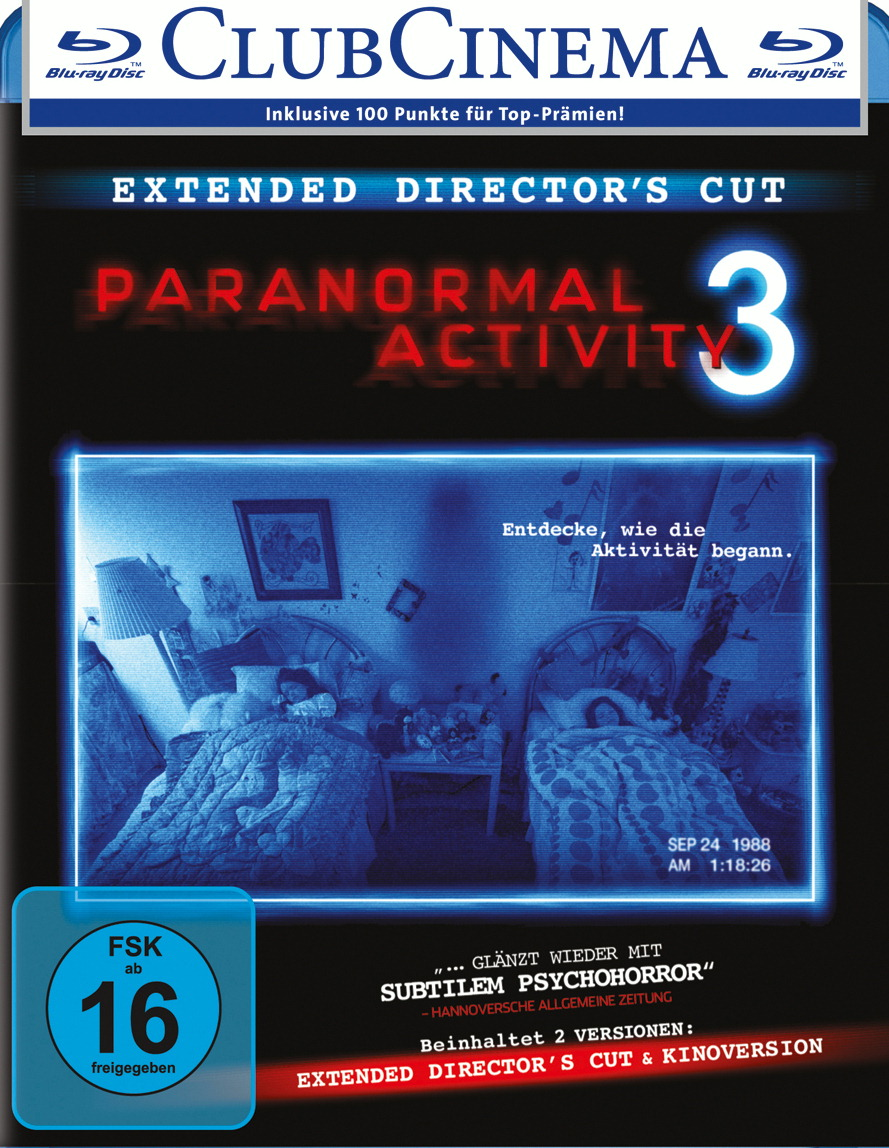 Paranormal Activity 3 (Extended Director's Cut, + Kinoversion) Poster