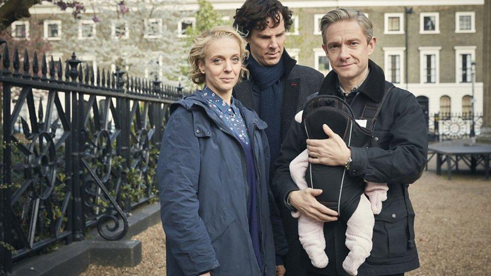 Sherlock Staffel vier neue Bilder Watson Mary und Sherlock mit Baby