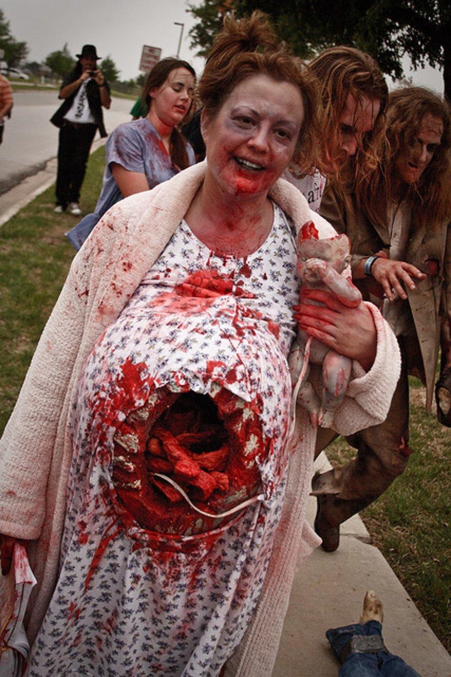 Pregnant Zombie Costume Gore