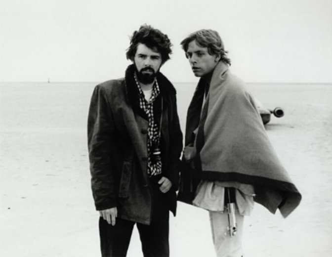 George Lucas Star Wars Set Mark Hamill