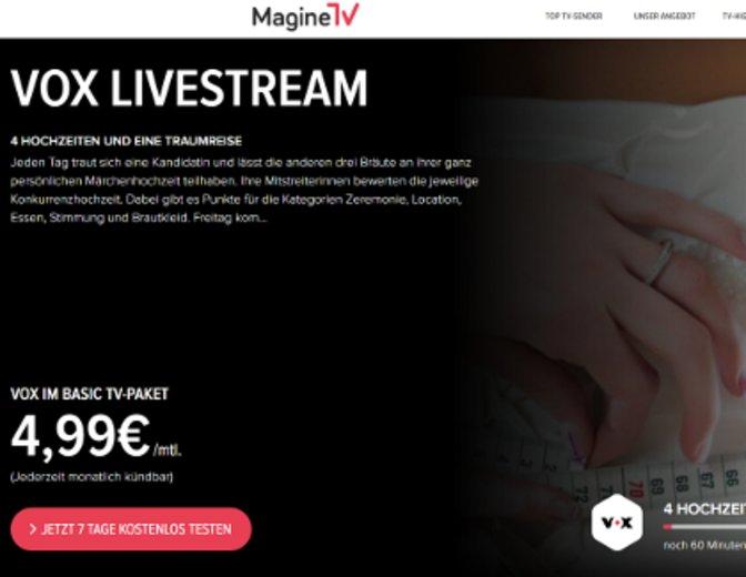 VOX im Live-Stream legal und kostenlos auf dem Gerät eurer Wahl