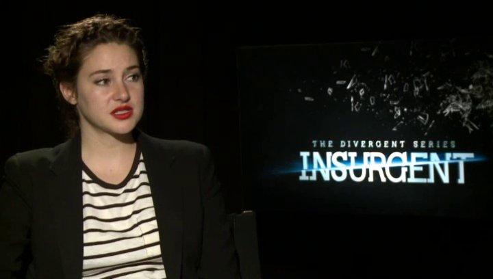 Shailene Woodley - Tris - über die Actionszenen und SIMs im Film - OV-Interview Poster