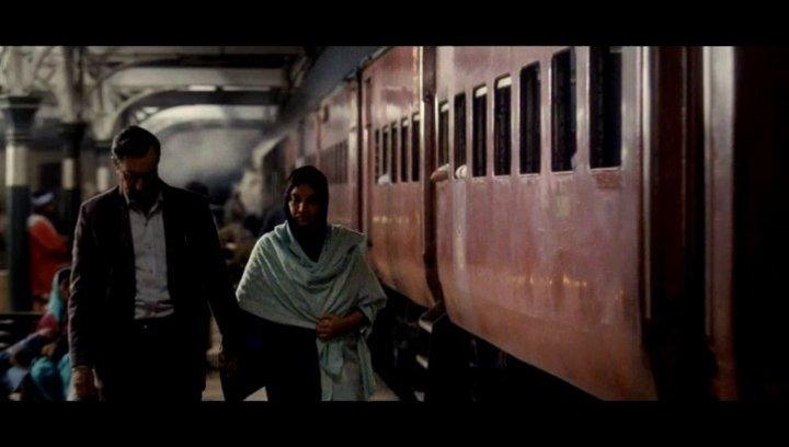 Das frisch vermählte paar im Zug - Szene Poster