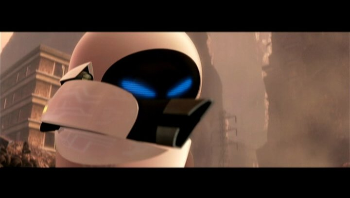 """Ein Haufen Roboter: Ein Überblick über die lustigen Blechkameraden in Pixars Animationshit """"Wall·E"""". - Featurette Poster"""
