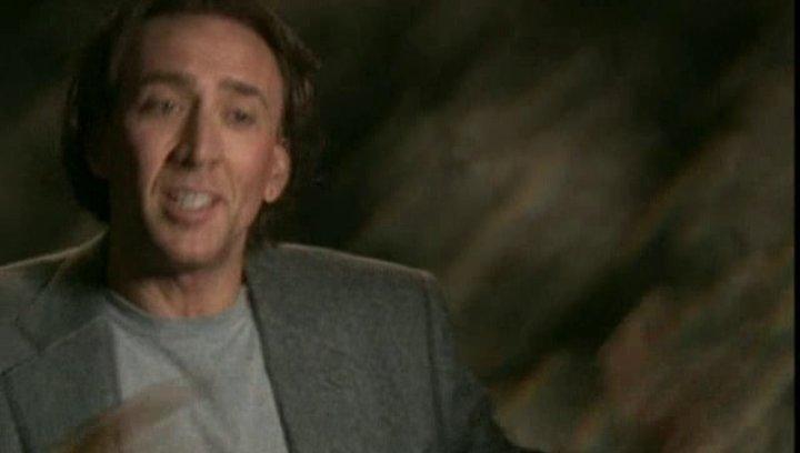 Nicolas Cage (Cris Johnson) über den Reiz, in die Zukunft sehen zu können, seine persönliche Begeisterung für Zaubertricks und das Paranormale sowie d Poster