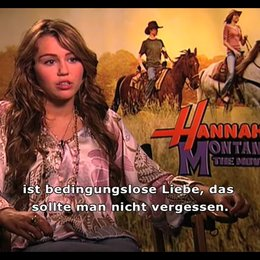 Miley Cyrus (Hannah Montana) über die große Bedeutung von Familie, ihre Heimat Nashville und den Spaß beim Filmdreh. - Interview Poster