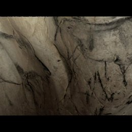 Die Wandmalereien sind der Oberfläche der Höhlenstruktur angepasst - Szene Poster