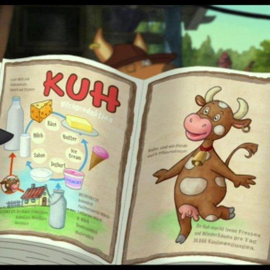 Socke und Eddi halten den Wolf für eine Kuh - Szene Poster