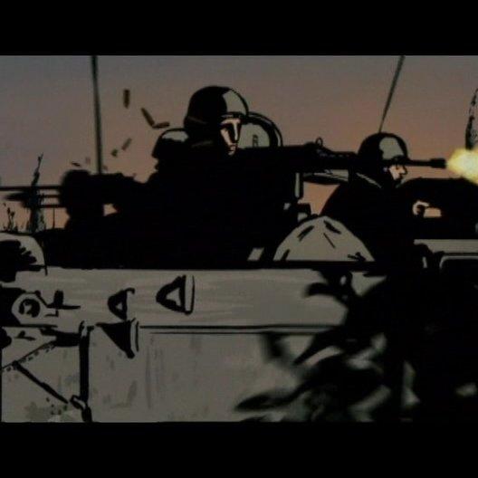 Bei Ari kommen langsam die Erinnerungen vom ersten Tag des Krieges hoch - Szene Poster