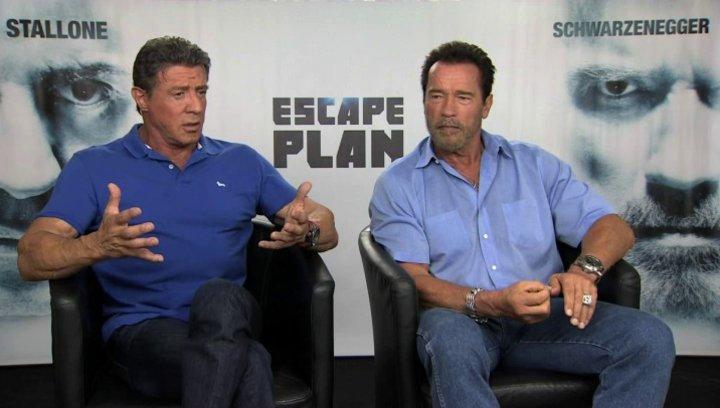 Stallone und Schwarzenegger über Ray Breslin - OV-Interview Poster