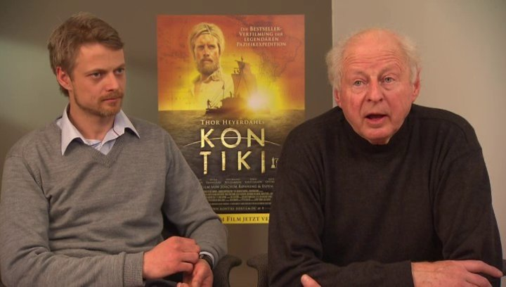 Thor Heyerdahl jr und Olav Heyerdahl darüber ob sein Vater mit dem Film zufrieden wäre - OV-Interview Poster