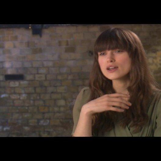 Keira Knightley über das Spielen der Rolle - OV-Interview Poster