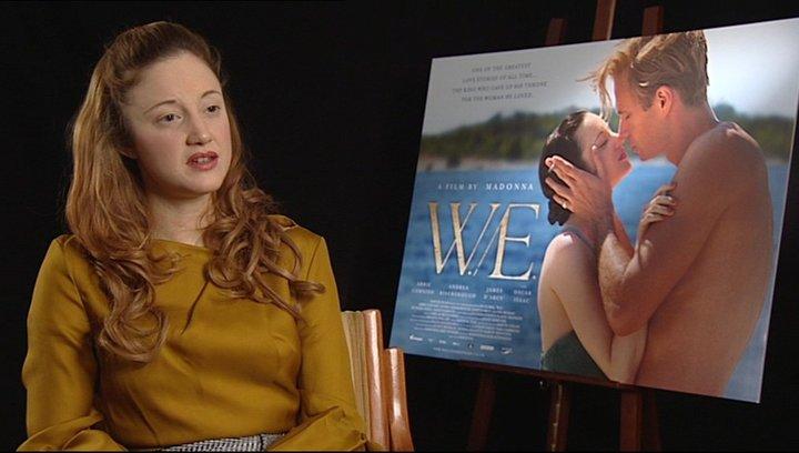 Andrea Riseborough -Wallis Simpson- über die zwei Handlungsebenen - OV-Interview Poster
