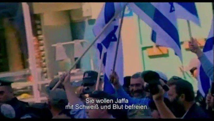 Demonstrationen in Jaffa - Szene Poster